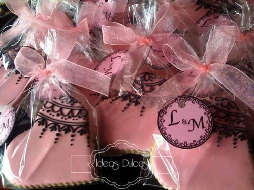Galletas de encaje para el aniversario de Lorena