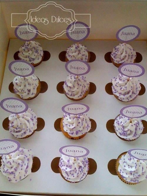 Mini-cupcakes para el bautizo de Juana