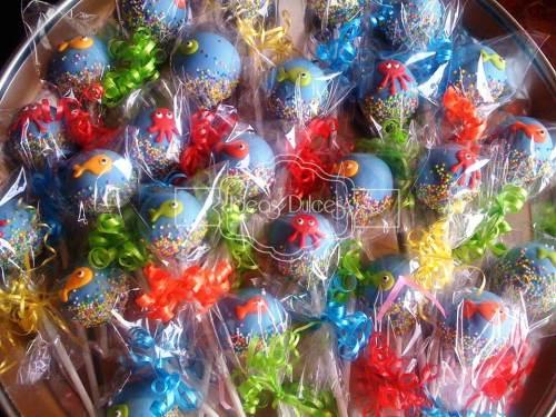 Cake Pops para el tercer cumpleaños de Jerónimo