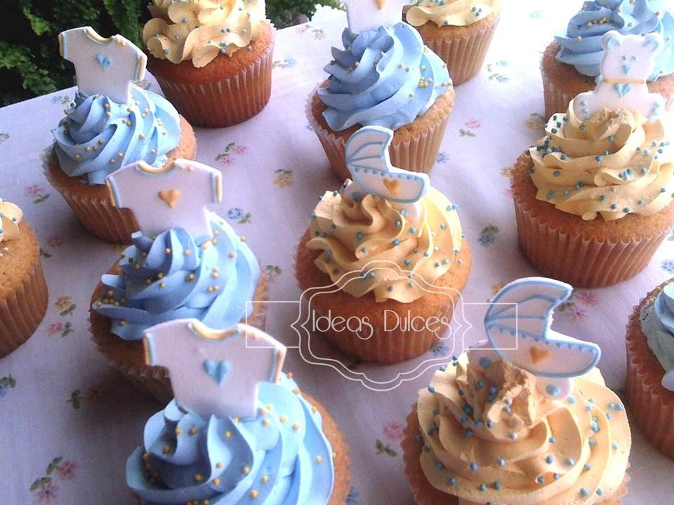 Cupcakes y Masmelos para el Baby Shower de Santiago  Ideas Dulces