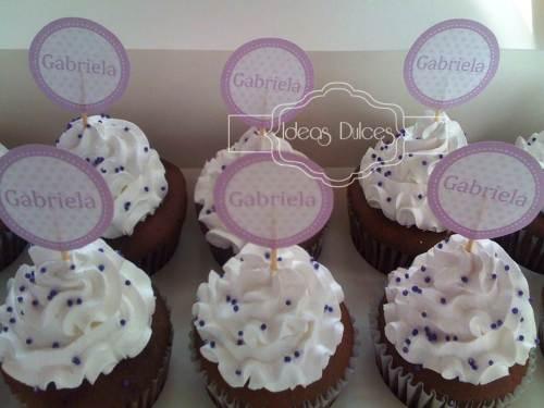 Cupcakes para la Primera Comunión de Gabriela