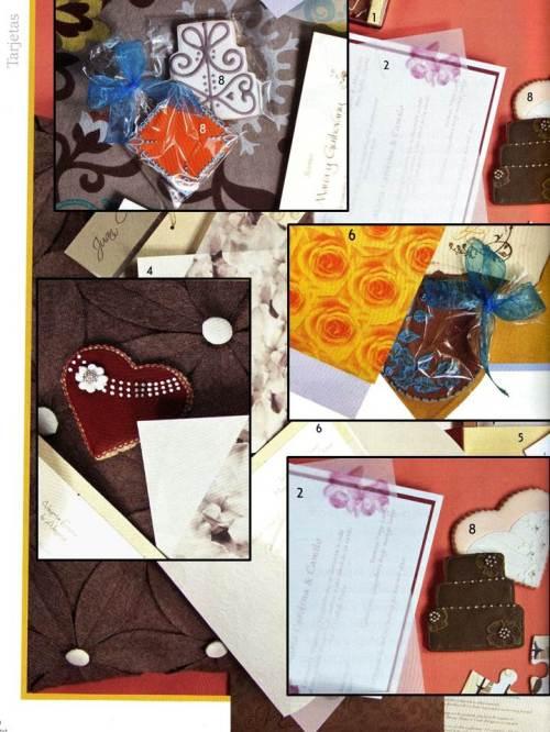 Publicación revista Novias. Año 18 No. 49-sept 2012-2- Galletas recordatorio para Bodas.