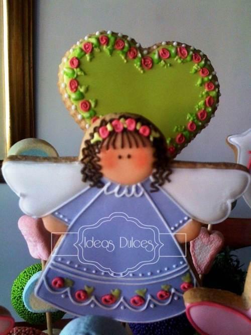 Detalle Arreglo de Galletas, Cake Pops y  Masmelos para la mamá de Allena