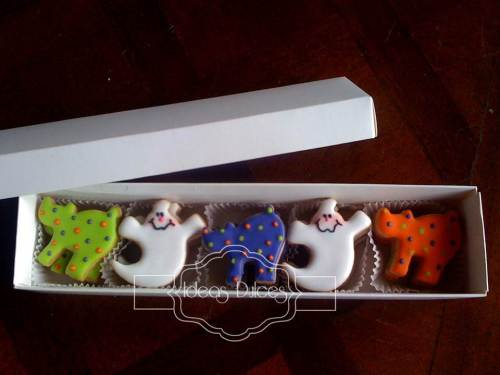 Caja de Mini-Galletas para regalar en Halloween