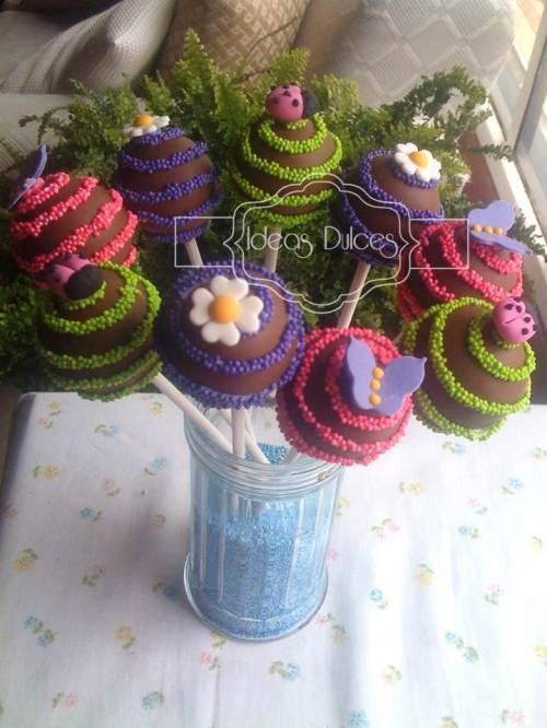 Cake pops para cumpleaños para hija Paola