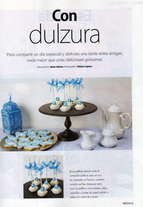 Nuestras Galletas y Cakes Pops para 15 años en la Revista Fiestas de Editorial Televisa