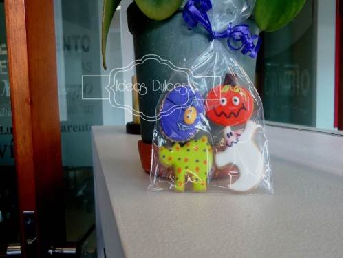 Bolsa de mini-galletas de Halloween para Productos Roche S.A.