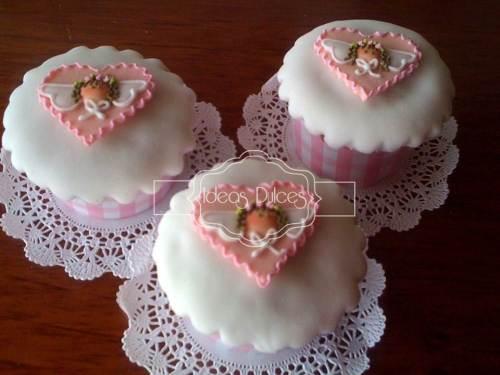 Cupcakes de angelitas para Bautizos