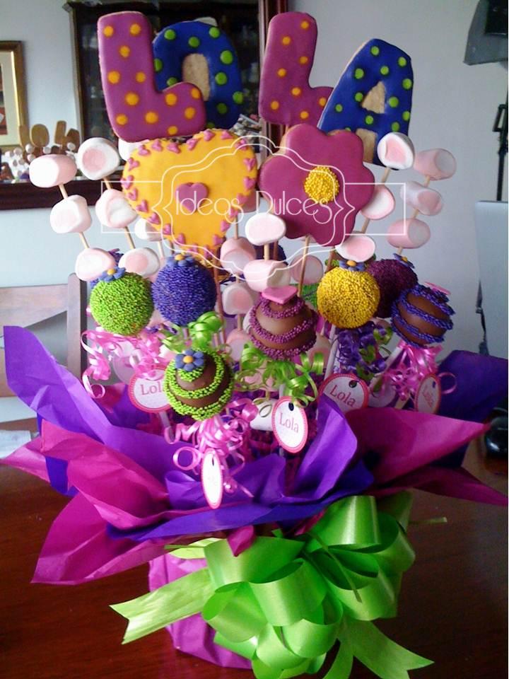 El baby shower de lola ideas dulces for Arreglos de mesa con dulces