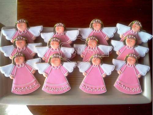 Galletas de angelita para Bautizos