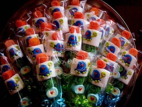 Masmelos de tortugas para la fiesta de cumpleaños de la hija d