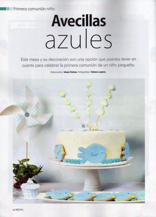 Torta para la sección de Primeras Comuniones- Revista Fiestas- Edición Noviembre de 2012