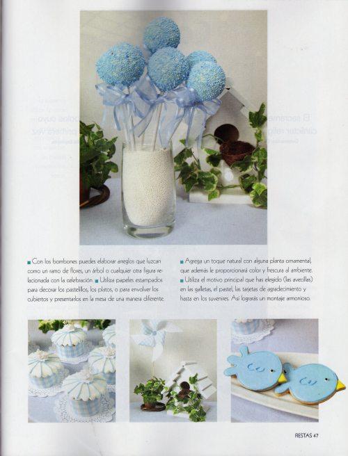 Cake Pops, Cupcakes y Galletas para la sección de Primeras Comuniones- Revista Fiestas- Edición Noviembre de 2012
