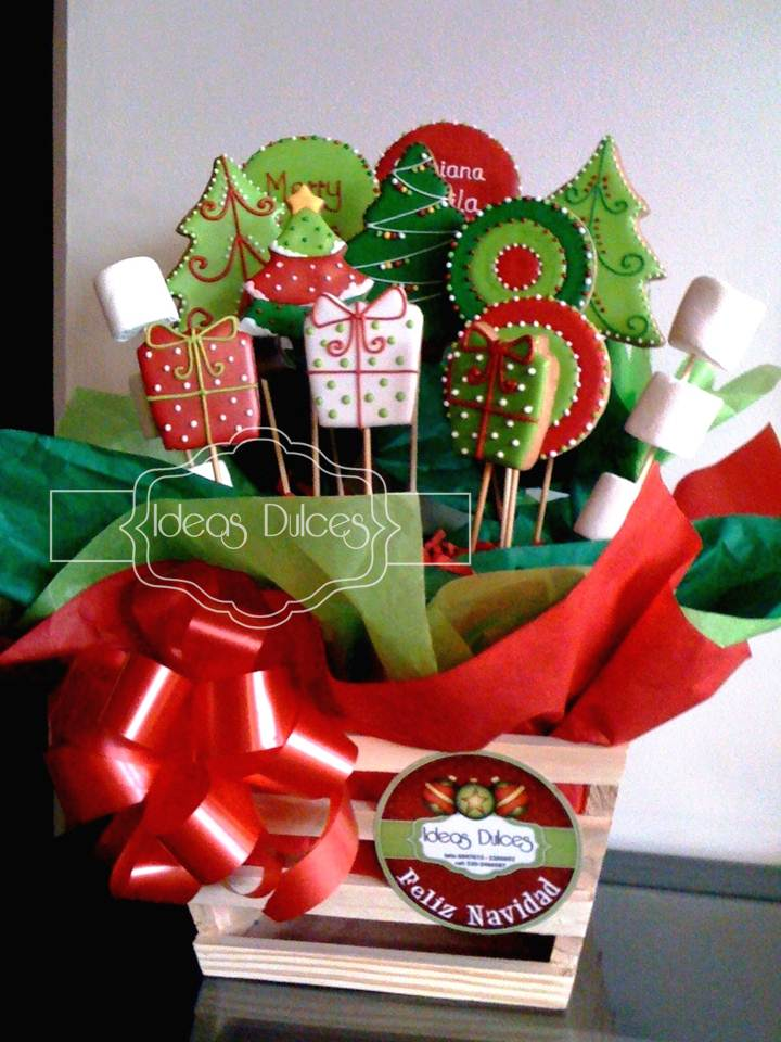Arreglo galletas tem ticas de navidad para el regalo de for Ideas para regalar para navidad