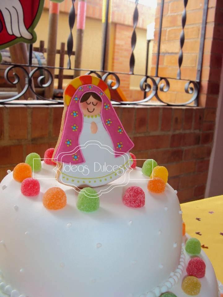 Decoracion Primera Comunion Virgen De Guadalupe ~   Plis para la torta de Primera Comuni?n de Camila en Bucaramanga