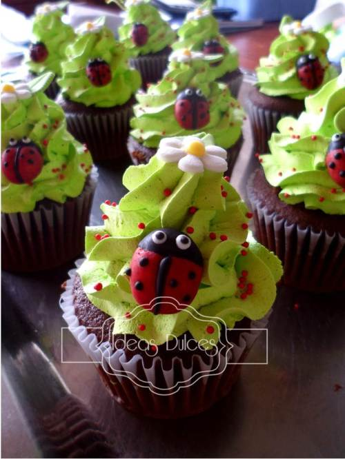 Cupcakes de Mariquitas para Johanna