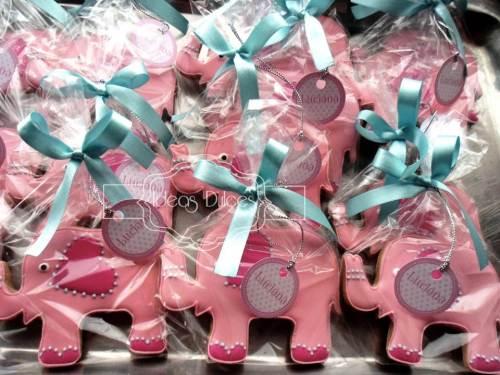Galletas de elefantes para el cumpleaños de Luciana