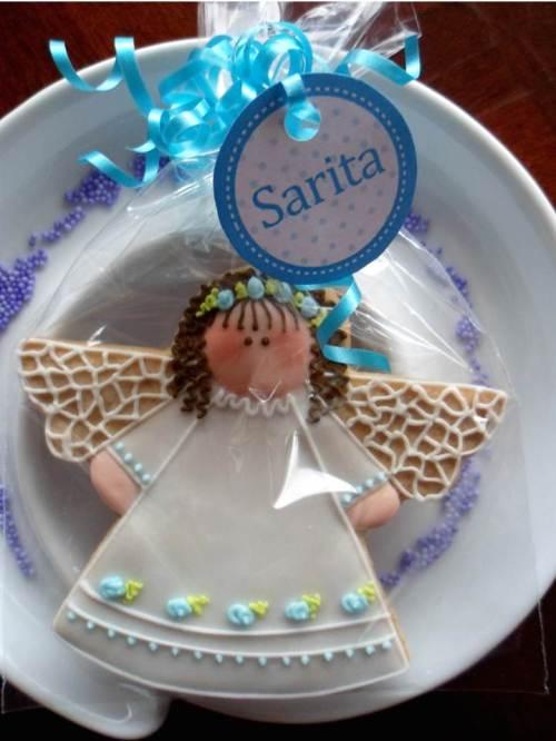 Galletas Recordatorio para el Bautizo de Sarita