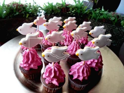 Cupcakes de Virgencita Plis para la Primera Comunión de Camila