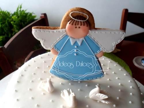 Detalle Torta de angelito para Bautizo