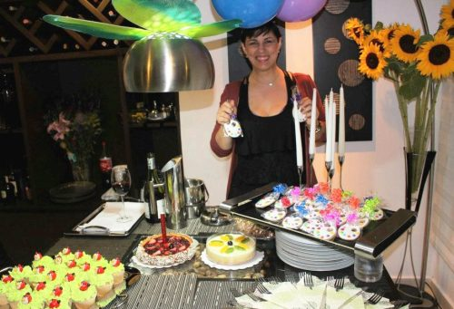 Las galletas de paletas de colores para una gran artista