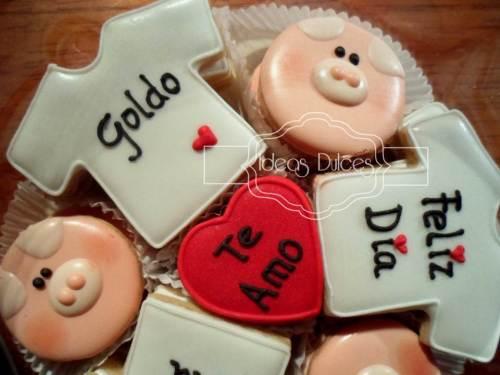 Detalle  Caja de mini-galletas con mensaje para Nathalia