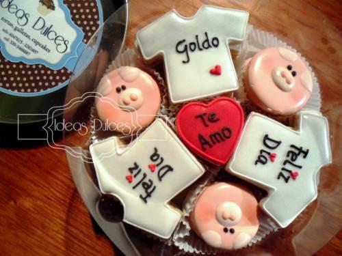 Caja de mini-galletas con mensaje para Nathalia