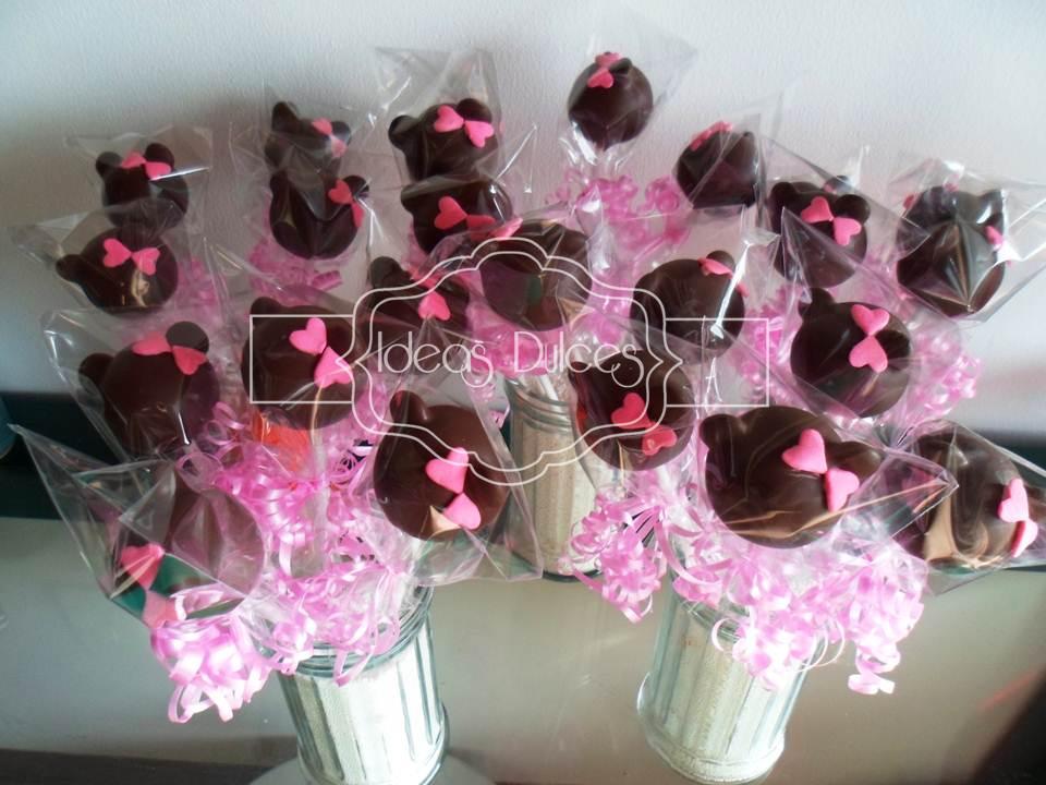 Cake Pops de Minnie Mouse para el cumple de Mariana en Leticia ...