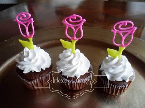 Nuevos Cupcakes con Rosas.