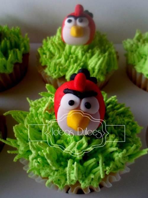 Cupcakes de Angry Birds para el cumple de Lorena