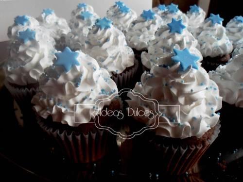 Cupcakes para el bautizo de Sebastián
