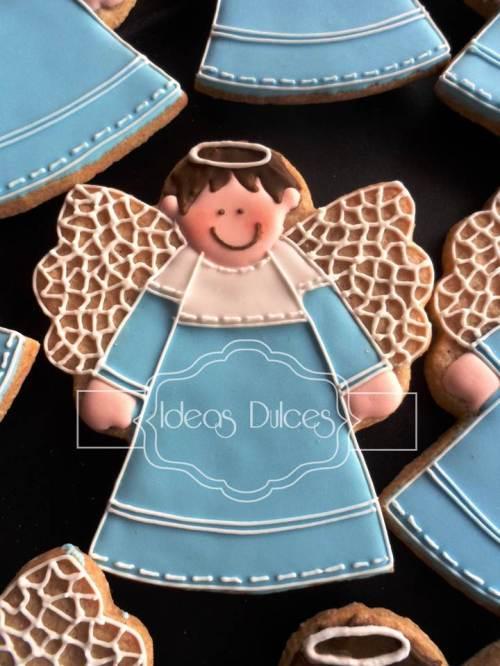 Galletas de angelito para el bautizo del ahijado de Andrea
