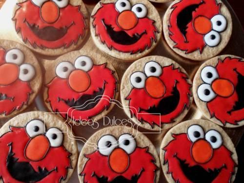 Galletas de Elmo para el cumple del hijo de Elsa Patricia