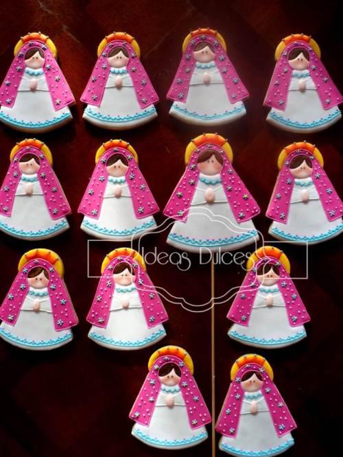 Galletas Virgencita Plis para la Primera Comunión de Juanita