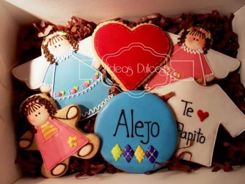 Cajas de galletas para Jorge, Alejo, Jose y Oscar en el Día de Padre