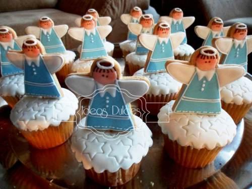 Cupcakes de Angelitos para la Primera Comunión de Juan Felipe