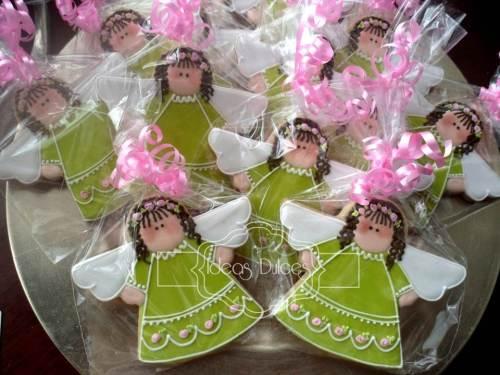 Galletas de Angelitas Verde  Pistacho para Rosa María