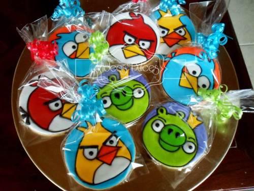 Galletas de Angry Birds para Ma. Teresa.