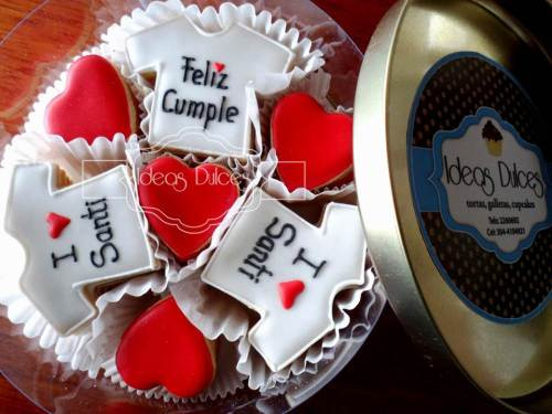 Caja de Mini-Galletas para el Cumple de Santiago