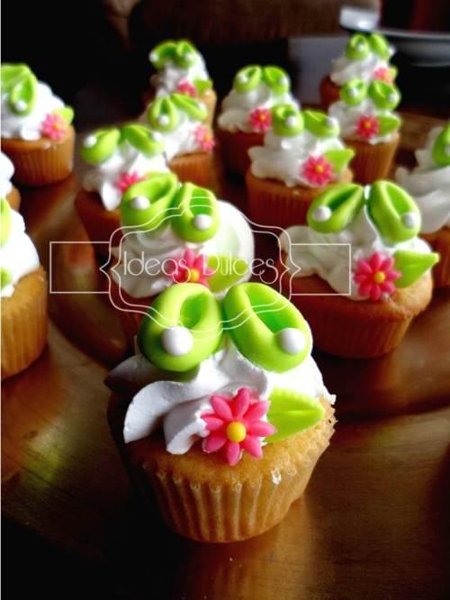 Cupcakes de Campanita para el cumple de Ana Sofía