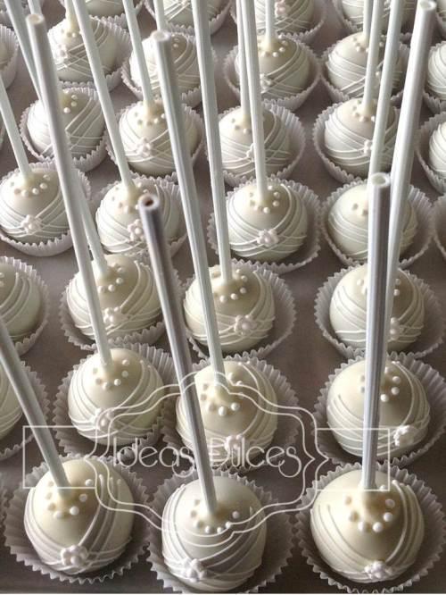 Cake pops vestido de novia para el Matrimonio de Johanna