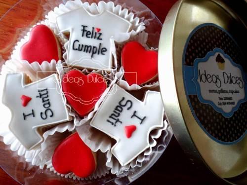 Caja de Mini-Galletas con mensaje para el cumple de Santiago