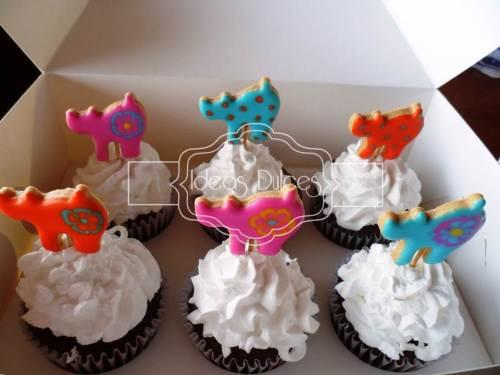 Cupcakes de Gaticos  para cumpleaños
