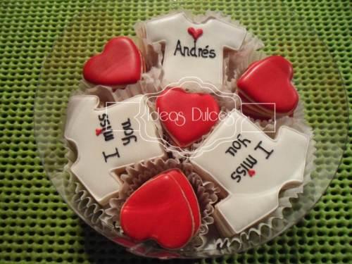 Caja de Mini-Galletas con mensaje para Andrés