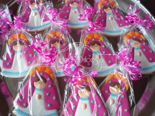 Galletas recordatorio Virgencitas Plis para Primera Comunión en Riohacha