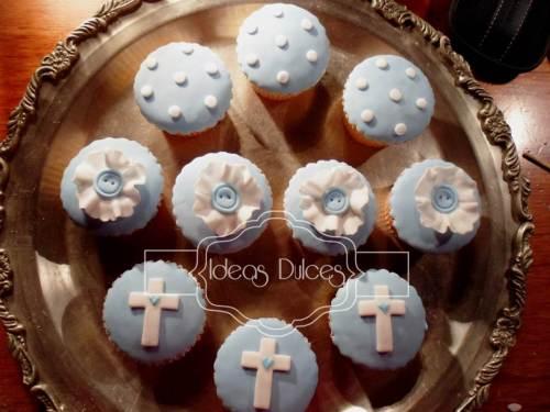 Cupcakes para el Bautizo de Tomás