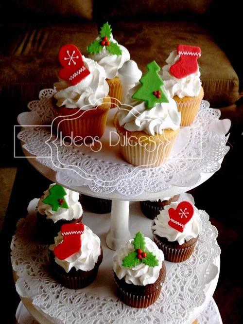Torre de Cupcakes de Navidad