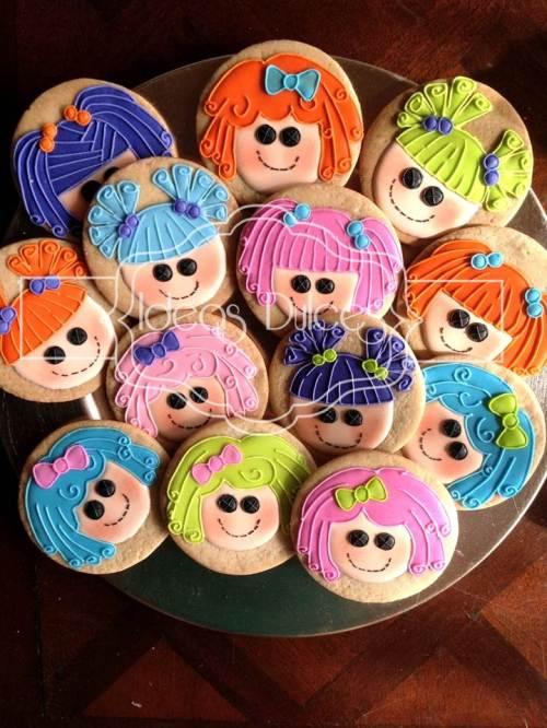Galletas Lalaloopsy para fiesta temática de cumpleaños
