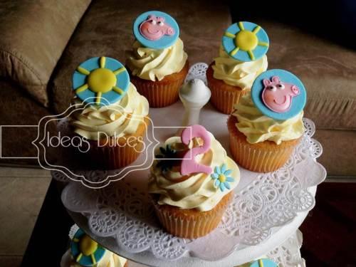 Torre de Cupcakes de Peppa Pig