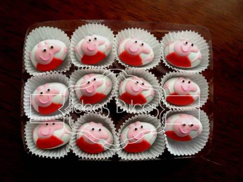 Almendras inspiradas en PEPPA PIG